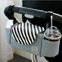 Baby carriage Storage Mummy Bag Organiser Bottle Holder Buggy Stroller Bag