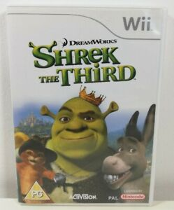 Shrek The Third Nintendo Wii Game Near Mint Condition Complete PAL Fast Free P&P