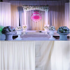 White Backdrop Background Decor 3m x 3m for Wedding Party Stage Theatre Studio