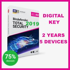 Tecla [] Bitdefender Total Security Multi-Device 2019,2018 + VPN: 2 años, 5 dispositivos