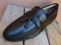 BALLY SWITZERLAND Mens Dress Shoes Brown Leather Casual Slip On Loafer Size 9.5M
