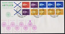 Netherlands Antilles 427 Booklet pane 4Aq on FDC - Queen Juliana