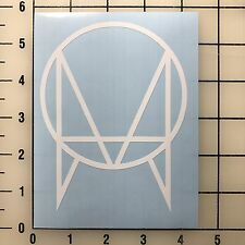 "Owsla Logo 5"" Tall White Vinyl Decal Sticker - Free Shipping"