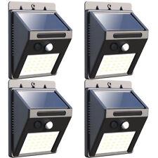 4x 30LED Solar Power PIR Motion Sensor Wall Light Outdoor Waterproof Garden Lamp