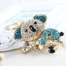 Koala Bear Tree Lovely Pendent Cute Rhinestone Crystal Purse Bag Key Chain Gift