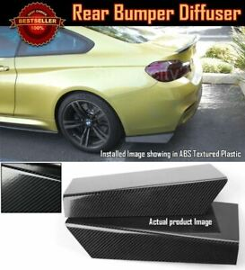 """15"""" Rear Bumper Carbon Effect Fin Apron Splitter Diffuser Valence Spats For BMW"""