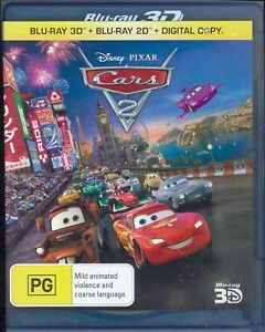 Disney Pixar CARS 2 3D Blu-Ray Movie FREE POSTAGE!