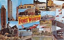 Fort Worth Texas~Signpost Greetings~7th Street~TCU~Cowtown~Six Flags~B-58 Bomber