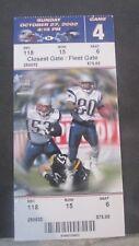 NFL- N.E. PATRIOTS VS. BUFFALO BILLS-12/8/2002 FULL TICKET BRADY WINS #22
