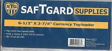 (100) Paper Currency Size Top Loader Holders - Priority Shipping
