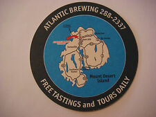 Beer Bar Coaster ~ ATLANTIC Brewing Co Bar Harbor Real Ale ~ MAINE ~ Opened 1991