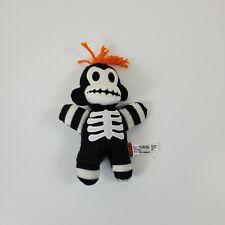 "Schylling Collectible Mini Plush Sock Monkey Skeleton Orange Hair Baby 8"""