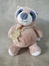 Histoire d'ours***Doudou/Peluche Raton Laveur/Racoon Beige et gris