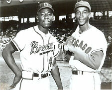 Braves Hank Aaron & Chicago Cubs Ernie Banks  8x10 beautiful photo