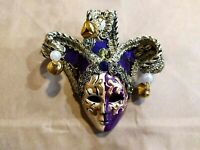 Giullare Mignon - Maschera veneziana artigianale in ceramica e tessuto