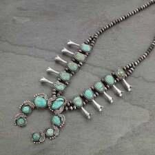 *NWT*  Squash Blossom Naja Natural Stone Necklace-7324050089