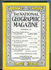 National Geographic Magazine November 1954 Kazakhs VG 071216jhe
