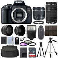 Canon EOS 800D SLR Camera + 4 Lens Kit 18-55 STM + 75-300mm + 16GB Top Value Kit
