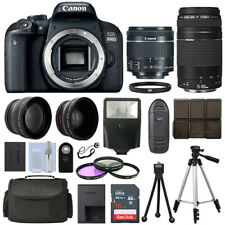Canon EOS 800D SLR Camera + 4 Lens Kit 18-55 STM + 75-300mm + 16GB Top Value Kit