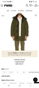Canada goose Langford hooded parka jacket green brand new size L