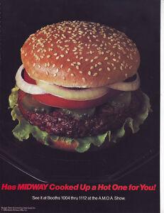 DATA EAST BALLY/MIDWAY BURGER TIME VINTAGE TRADE MAGAZINE ADVERTISING SHEET 1982