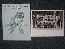 1984-85  UTEP Lady Miner Basketball Team Signed 8 x 10  B & W  Photo(14 Signers)
