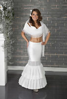 New Women Wedding Bridal White Ivory Petticoat Underskirt Dress Crinoline Skirt