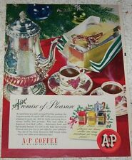 1945 print ad - A&P White House Milk soldier baby & Coffee rice pudding recipe