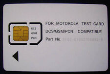 For Motorola GSM Test Card, GSM Cell Mobile Phone Test Card