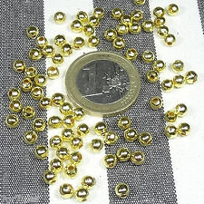 400 Abalorios Redondos 4mm T249C Dorados Round Golden D'or золотой χρυσαφένιος