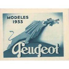 1933 Peugeot 201 301 Car & Truck Brochure wq7663-RYBAW1