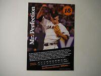 SF Giants Matt Cain 2012 Perfect Game Card-San Francisco Chronicle
