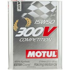 2 litres MOTUL 300V concurrence 15W-50 Motorsport Sport de course huile