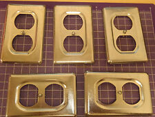 Lot of Five Cooper Ds23, Cast Device Box Covers, Single Gang !91B!