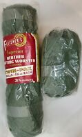 Fleishers Olive Green Virgin Wool Knitting Yarn 5.25 oz Worsted Washable Gift
