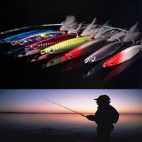 Señuelo de pesca Plomo Metal de pesca Jigging Crankbaits Pluma de bajo gancho