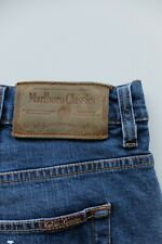 Vintage Marlboro Classics blue jeans   W42 L34   Reg Straight Rare 2% Elastane