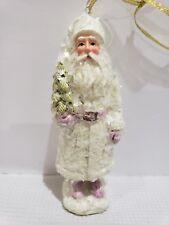 "Christmas Vintage Shabby Chic Pink Santa Claus Christmas Ornament Decor 6"""