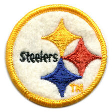 "1970'S PITTSBURGH STEELERS NFL FOOTBALL 2"" ROUND TEAM LOGO PATCH YELLOW BORDER"