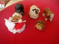 FINE VINTAGE 5 ANIMALS FIGURINES SOME OF THE HUMOUR NATURE SEE PICTURES
