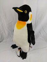 """Plush Large Penguin 24"""" Large Stuffed Animal With Baby Penguin Toy Gift"""