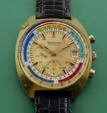 Vintage 1960's WAKMANN  Automatic Regatta Chronograph Day Date Exotic Dial Watch