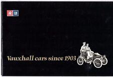 Vauxhall Model By Model History 1903-1976 UK Market Corporate Brochure