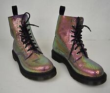 Dr. Martens Boots Pascal Violet Mirror Shif Suede Size 6 Womens