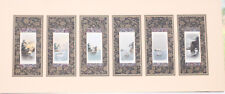 Original Artwork: 6x Miniature Nautical water colour each approx 1.5x3 inch appx