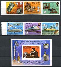259/SPACE RAUMFAHRT 1976 Liberia Telefon ITU UIT 997-1002B + Bl.81B Imperf **