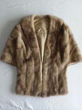 Women's Beige Fur Shoulder Wrap Cape