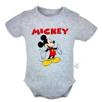 Disney Mickey Mouse open Arm Newborn Jumpsuit Baby Romper Bodysuit Clothes Sets