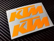 2x KTM UV Orange Motorcycle/Helmet/Wheel rim Sticker Graphic mx supermoto HiViz