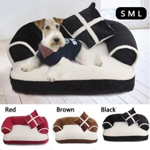 New Pet Sofa Beds With Pillow Winter Warm Soft Kennel Washable Cat Mat Dog House